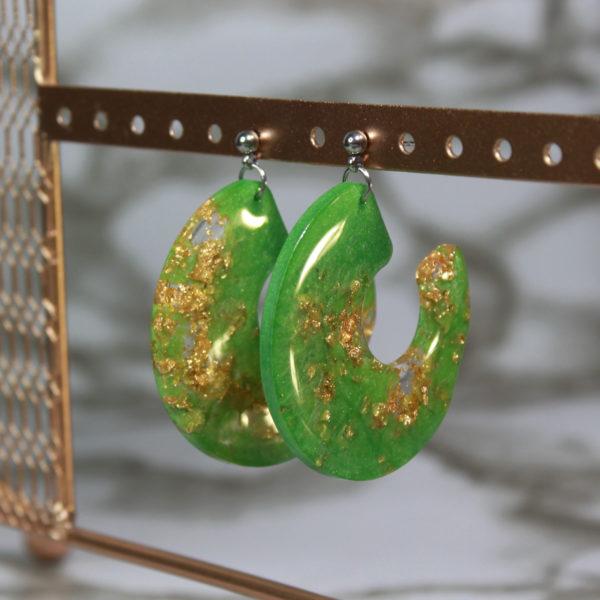 Boucles d'oreilles forme escargot