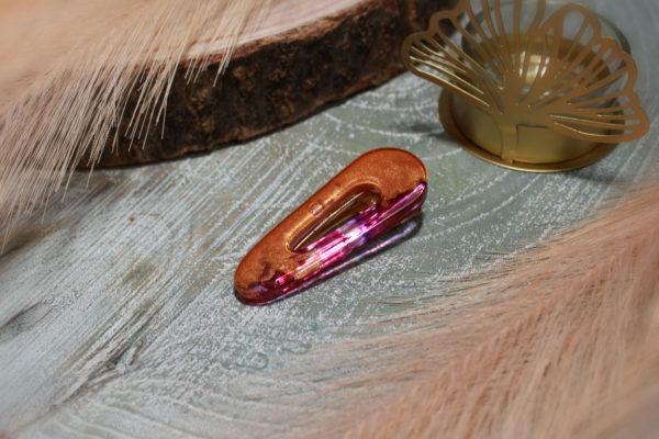 Pince à cheveux forme de goutte d'eau résine époxy