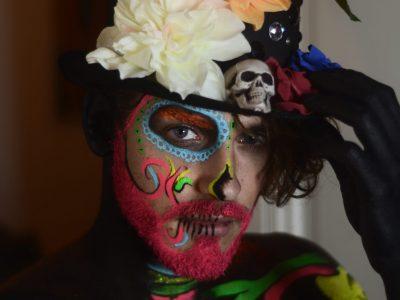 maquillage artistique bodypainting à domicile - halloween - dias de los muertos