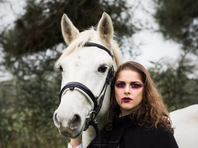 Shooting maquillage professionnel artistique vampire 2 Halloween 2019 - à domicile