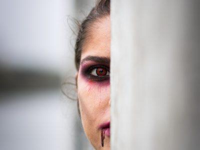 Shooting maquillage professionnel artistique vampire 3 Halloween 2019 - à domicile