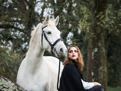 Shooting maquillage professionnel artistique vampire 4 Halloween 2019 - à domicile