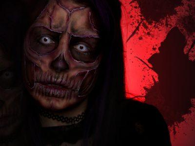 Maquillage professionnel effets spéciaux cicatrices squelette Halloween 2019 - à domicile
