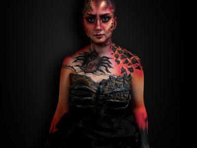Concours maquillage artistique 2019 - SLA paris cosmetics - les péchés capitaux - 1er prix bodypainting