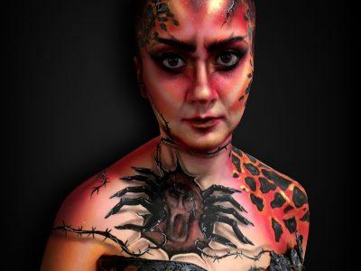 Concours maquillage artistique 2019 - SLA paris cosmetics - les péchés capitaux - 1er prix face